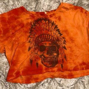 Off the shoulder T shirt / crop top